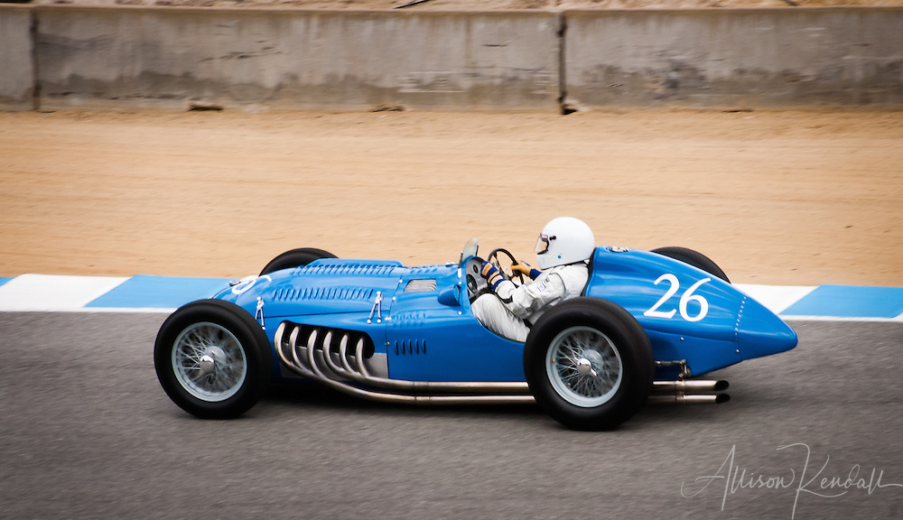 A 1950 Talbot T 26C driven by Peter Mullin at the 2013 Rolex Monterey Motorsports Reunion event
