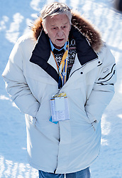 12.02.2017, St. Moritz, SUI, FIS Weltmeisterschaften Ski Alpin, St. Moritz 2017, Abfahrt, Herren, im Bild Gian Franco Kasper (FIS Präsident) // Gian Franco Kasper president of the International Ski Federation during the men's Downhill of the FIS Ski World Championships 2017. St. Moritz, Switzerland on 2017/02/12. EXPA Pictures © 2017, PhotoCredit: EXPA/ Johann Groder