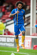 Junior Brown of Shrewsbury Town warms up ahead of the EFL Sky Bet League 1 match between Walsall and Shrewsbury Town at the Banks's Stadium, Walsall, England on 7 October 2017. Photo by Darren Musgrove.