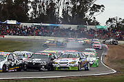 Mark Winterbottom of Ford Performance Racing crashes during the  Winton 400  ~ V8 Supercar Series Round 9 at Winton Motor Raceway, Victoria Australia on Sunday 3rd August 2008. Photo: Clay Cross/PHOTOSPORT