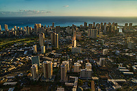Moilili Neighborhood (foreground) & Waikiki Skyline