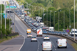 © Licensed to London News Pictures. 13/05/2020. London, UK. Traffic on the A40 near Uxbridge. Heavy traffic as people commute to work on the A40 eastbound to London as lockdown restrictions are eased in England. Photo credit: Peter Manning/LNP