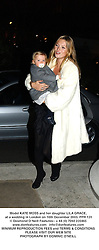 Model KATE MOSS and her daughter LILA GRACE, at a wedding in London on 16th December 2003.PPR 131