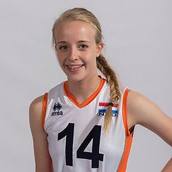 07-06-2016 NED: Jeugd Oranje meisjes &lt;2000, Arnhem<br /> Photoshoot met de meisjes uit jeugd Oranje die na 1 januari 2000 geboren zijn / Matilde Boereboom
