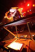 Photos of Dir en grey performing in 2008 on their US tour.
