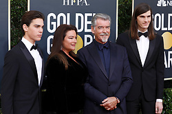 January 5, 2020, Beverly Hills, Kalifornien, USA: Dylan Brosnan, Keely Shaye Smith, Pierce Brosnan and Paris Brosnan bei der Verleihung der 77. Golden Globe Awards im Beverly Hilton Hotel. Beverly Hills, 05.01.2020 (Credit Image: © Future-Image via ZUMA Press)