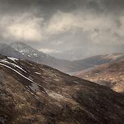 Loch Eilde Mor from Meall Dearg, Higlands, Scotland.