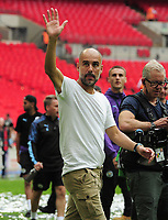 Football - 2019 FA Community Shield - Liverpool vs. Manchester City<br /> <br /> Man City manager, Pep Guardiola after the match, at Wembley Stadium.<br /> <br /> COLORSPORT/ANDREW COWIE