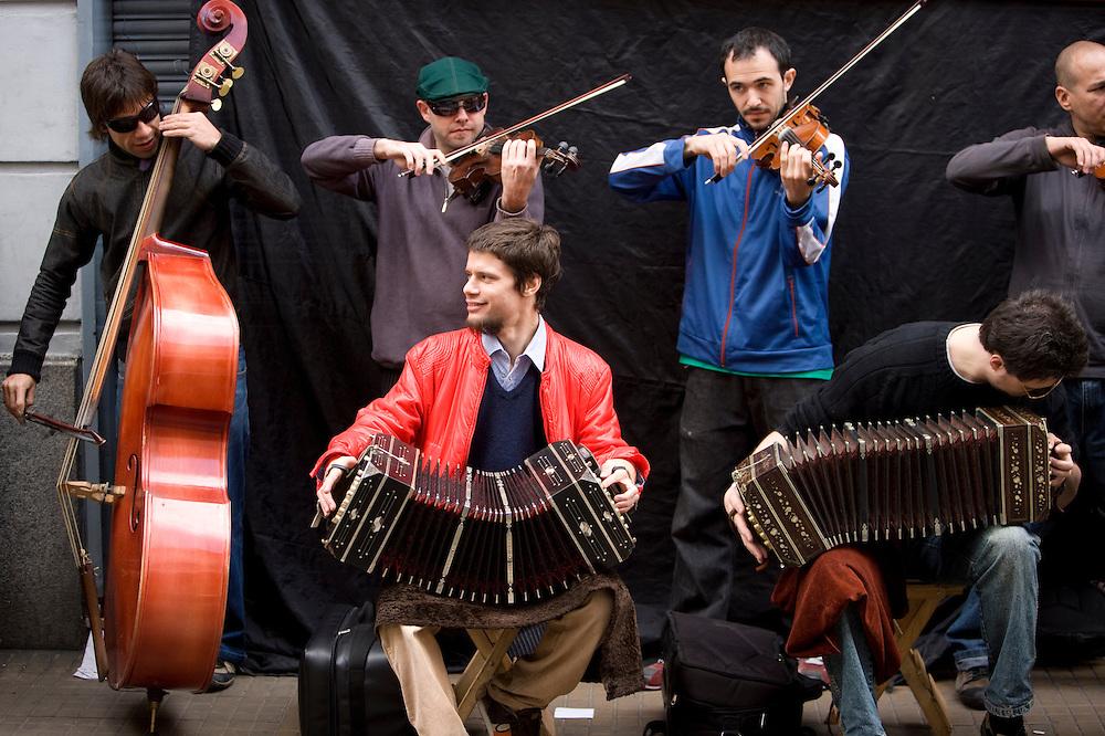 Street musicians in San Telmo, Buenos Aires, Argentina