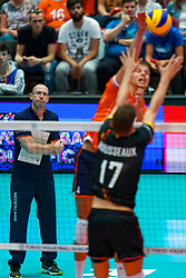 10-08-2019 NED: FIVB Tokyo Volleyball Qualification 2019 / Belgium - Netherlands, Rotterdam<br /> Third match pool B in hall Ahoy between Belgium vs. Netherlands (0-3) for one Olympic ticket / Coach Roberto Piazza of Netherlands