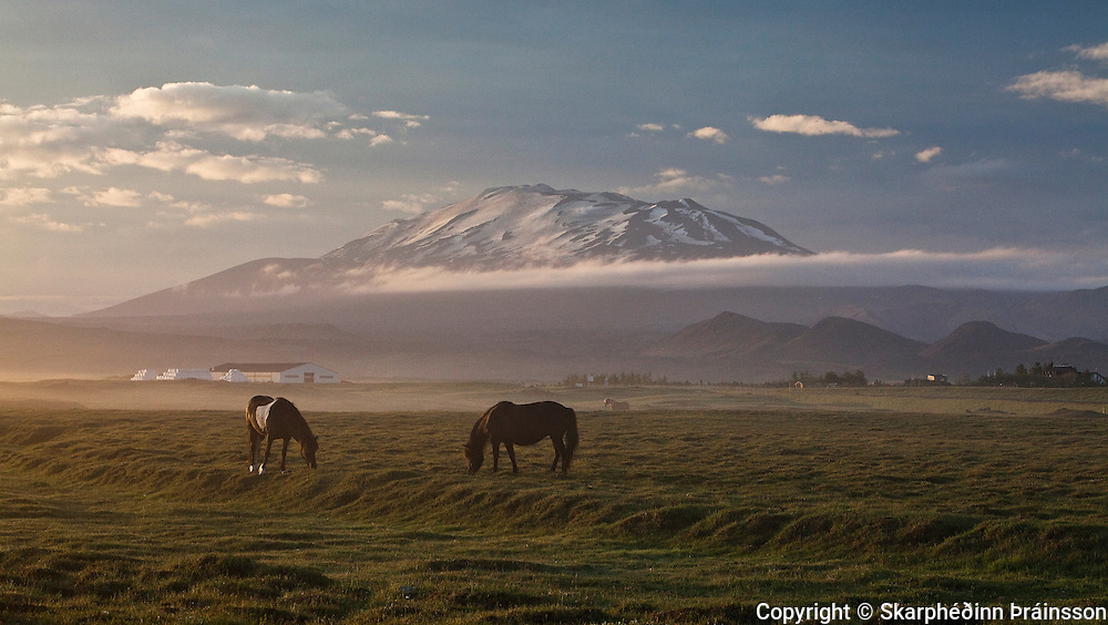 """Mt. Hekla """"The Gateway to Hell"""" - Southern Iceland<br /> Mountain Hekla (1.488 m), a stratovolcano sometimes called """"The Gateway to Hell"""" For the last decates the volcano Hekla has erupted with a sequence of 10 years, last erupting in the year of 2000."""