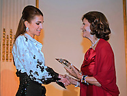 Queen Rania Receives Award From Queen Silvia