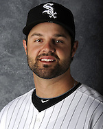 GLENDALE, AZ - MARCH 03:  Jordan Danks of the Chicago White Sox poses for his official team headshot during photo day on March 3, 2012 at The Ballpark at Camelback Ranch in Glendale, Arizona. (Photo by Ron Vesely)   Subject:   Jordan Danks