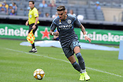 Ronald Matarrita of NYCFC during a MLS soccer game against the San Jose Earthquakes, Saturday, Sept. 14, 2019, in New York.NYCFC defeated San Jose Earthquakes 2-1.(Errol Anderson/Image of Sport)