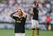 STOCKHOLM, SWEDEN - MAY 20: Kristoffer Olsson of AIK dejected during the Allsvenskan match between Hammarby IF and AIK at Tele2 Arena on May 20, 2018 in Stockholm, Sweden. Photo by Nils Petter Nilsson/Ombrello ***BETALBILD***