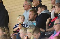 Bristol Bears Jordan Crane watches on with his son. - Mandatory by-line: Alex James/JMP - 21/09/2019 - RUGBY - Shaftesbury Park - Bristol, England - Bristol Bears Women v Saracens Women - Tyrrells Premier 15s