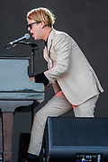 Tom Odell plays the Pyramid Stage - The 2019 Glastonbury Festival, Worthy Farm, Glastonbury.
