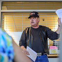 060414       Cayla Nimmo<br /> <br /> Steve Garcia describes how to go about counting the ballots at the McKinley County Courthouse in Gallup Wednesday evening.