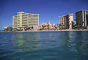Royal Hawaiian and Sheraton Waikiki hotels, Waikiki, Oahu, Hawaii<br />