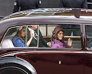 "PRINCESSES BEATRICE AND EUGENIE AND THE DUKE OF YORK.are relegated to a car for the trip from Westminster Hall to Buckingham Palace, on the occasion of the Queen's Diamond Jubilee_London_05/06/2012.Mandatory Credit Photo: ©SB/NEWSPIX INTERNATIONAL..**ALL FEES PAYABLE TO: ""NEWSPIX INTERNATIONAL""**..IMMEDIATE CONFIRMATION OF USAGE REQUIRED:.Newspix International, 31 Chinnery Hill, Bishop's Stortford, ENGLAND CM23 3PS.Tel:+441279 324672  ; Fax: +441279656877.Mobile:  07775681153.e-mail: info@newspixinternational.co.uk"