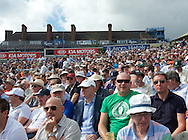 Sell out crowds on the second day of the 5th Investec Ashes Test Match match at the Kia Oval, London<br /> Picture by Alan Stanford/Focus Images Ltd +44 7915 056117<br /> 21/08/2015