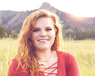 Senior pictures at sunset in Chautauqua by Lucy Tuck Photography