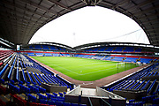 general view of the University of  Bolton Stadium before the EFL Trophy match between Bolton Wanderers and Bradford City at the University of  Bolton Stadium, Bolton, England on 3 September 2019.