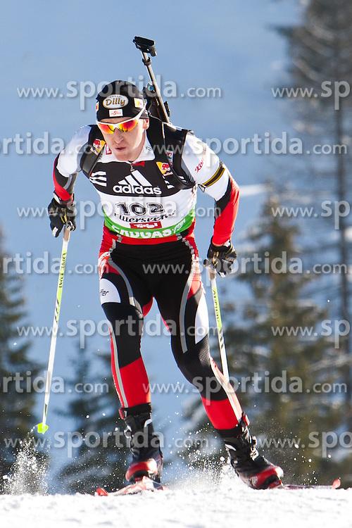 09.12.2011, Biathlonzentrum, Hochfilzen, AUT, E.ON IBU Weltcup, 2. Biathlon, Herren 10km Sprint, im Bild Friedrich Pinter (AUT) // Friedrich Pinter of Austria during men 10km Sprint at E.ON IBU Worldcup 2th Biathlon, Hochfilzen, Austria on 2011/12/09. EXPA Pictures © 2011, PhotoCredit: EXPA/ Johann Groder