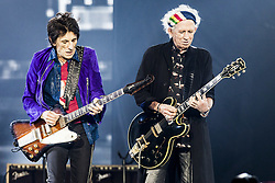 Ron Wood and Keith Richards of The Rolling Stones live on stage at Gelredome in Arnhem, The Netherlands, as part of their No Filter Tour on October 17, 2017. Photo by Robin Utrecht/ABACAPRESS.COM