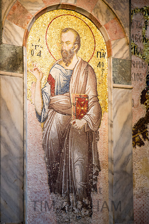Church of St Saviour in Chora, Kariye Museum St Savior mosaic of St Matthew in Istanbul, Turkey