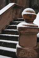 snowcovered steps of a New York City brownstone<br /> New York City   U.S.A. Winter in New York