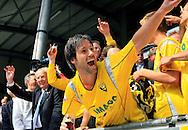27-05-2007: Voetbal: VVV Venlo - RKC Waalwijk: Venlo<br /> RKC Waalwijk is gedegradeerd naar de Jupiler League.<br /> Dirk Jan Derksen is de gangmaker bij de huldiging<br /> foto : Geert van Erven