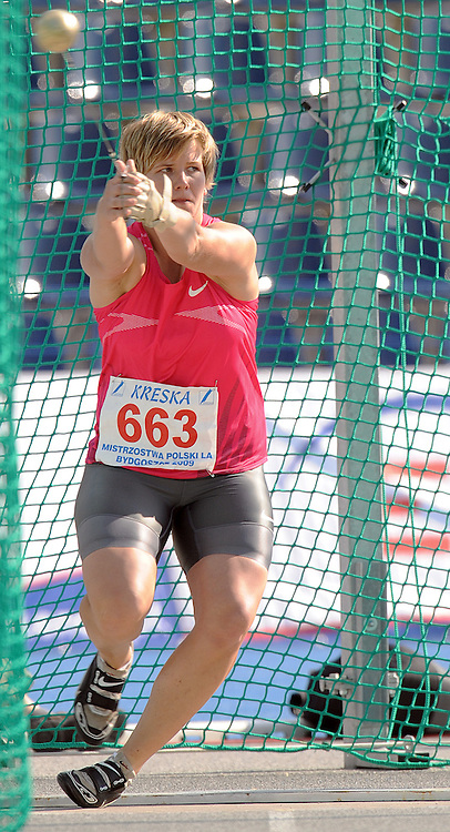 ANITA WLODARCZYK ( HAMMER THROW ) DURING POLISH CHAMPIONSHIP IN ATHLETICS AT ZAWISZA STADIUM IN BYDGOSZCZ, POLAND..BYDGOSZCZ , POLAND , AUGUST 1, 2009..( PHOTO BY ADAM NURKIEWICZ / MEDIASPORT )..PICTURE ALSO AVAIBLE IN RAW OR TIFF FORMAT ON SPECIAL REQUEST.