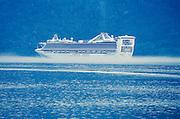 Alaska. Skagway. Cruise ships departing.