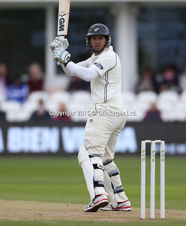 Ross Taylor watches as he is caught behind for ten during the four day game between Somerset and a New Zealand XI at the County Ground, Taunton. Photo: Graham Morris/www.cricketpix.com (Tel: +44 (0)20 8969 4192; Email: graham@cricketpix.com) 10052015