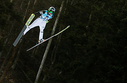 Spela Rogelj of Slovenia soaring through the air during 1st Round at Day 1 of World Cup Ski Jumping Ladies Ljubno 2019, on February 8, 2019 in Ljubno ob Savinji, Slovenia. Photo by Matic Ritonja / Sportida