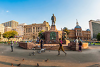 Statue of Paul Kruger, late Boer leader and former president of South Africa, Chruch Square (Kerkplein), Pretoria, South Africa.