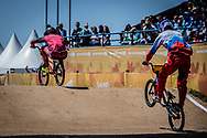 2018 Youth Olympic Games<br /> Buenos Aires, Argentina<br /> Mixed BMX - Race<br /> Final Men<br /> GLAZERS Edvards (LAT)<br /> BESKROVNYY Ilia (RUS)