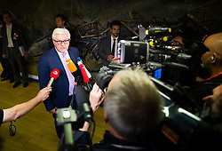 14.07.2015, Austria Center, Wien, AUT, Einigung bei E3/ EU+3 - Iran Gespraeche (Frankreich, Deutschland, Vereinigtes Koenigreich, China, Russland und USA), im Bild Aussenminister Deutschland Frank- Walter Steinmeier // Germanys Minister for Foreign Affairs Frank-Walter Steinmeier during aggreement of P5+1 - Iran Talks (France, Germany, United Kingdom, China, Russia and USA) at Austria Centre in Vienna, Austria on 2015/07/14, EXPA Pictures © 2015, PhotoCredit: EXPA/ Michael Gruber
