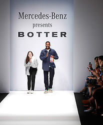 July 3, 2018 - Berlin, Germany - Botter after their show during the first day of MBFW Berlin Fashion Weak in the ewerk showspace in Berlin, Germany on July 3, 2018. (Credit Image: © Dominika Zarzycka/NurPhoto via ZUMA Press)