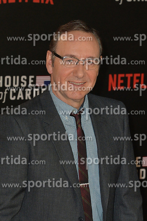 Kevin Spacey attends the World Premiere of 'House of Cards' Season 3 at The Empirem Leicester Square in London, England. 26th February 2015. EXPA Pictures &copy; 2015, PhotoCredit: EXPA/ Photoshot/ James Warren<br /> <br /> *****ATTENTION - for AUT, SLO, CRO, SRB, BIH, MAZ only*****