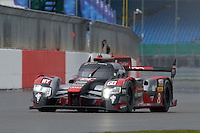 Lucas Di Grassi (BRA) / Loic Duval (FRA) / Oliver Jarvis (GBR) #8 Audi Sport Team Joest  Audi R18 e-tron quattro, during Quailifying  as part of the WEC 6 Hours of Silverstone 2016 at Silverstone, Towcester, Northamptonshire, United Kingdom. April 16 2016. World Copyright Peter Taylor.
