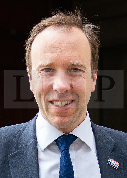 © Licensed to London News Pictures. 04/04/2019. London, UK. Health and Social Care Secretary Matt Hancock leaving after appearing on a radio interview. MPs voted last night by a majority of one to extend article 50. The bill will be passed to the House of Lords today. Photo credit : Tom Nicholson/LNP