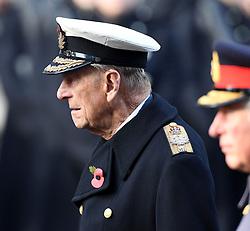 Prinz Philip, Duke von Edinburgh beim Remembrance Sunday in London / 131116 *** Remembrance Sunday, London, 13 Nov 2016 ***