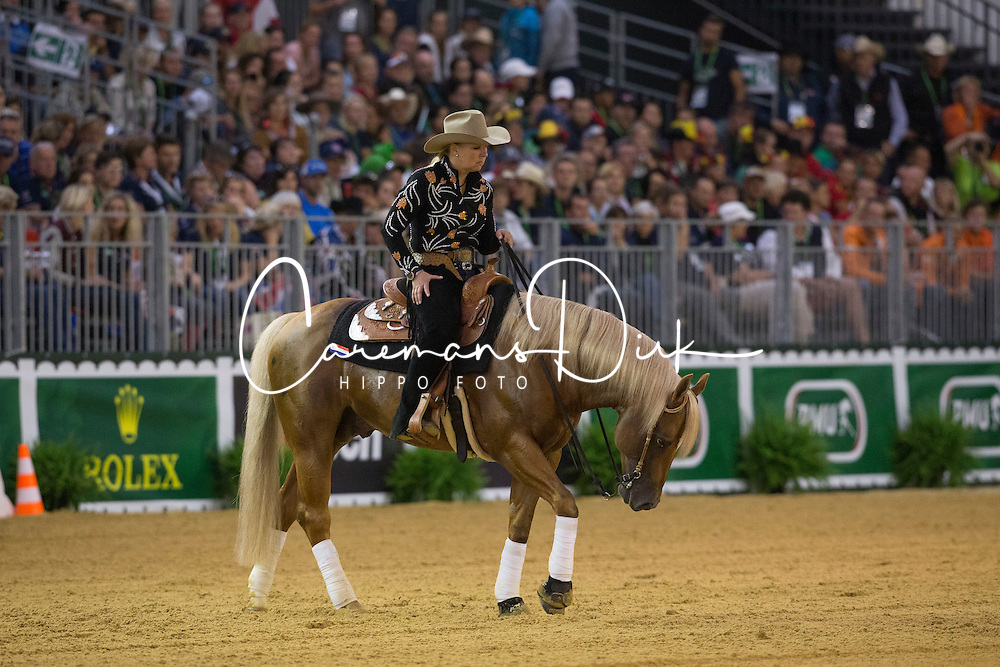Rieky Young Van Osch, (NED), Brady Chex - Team Competition and 1st individual qualifying  - Alltech FEI World Equestrian Games™ 2014 - Normandy, France.<br /> © Hippo Foto Team - Dirk Caremans<br /> 25/06/14