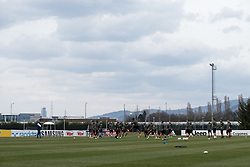 April 2, 2018 - Vinovo, Piedmont/Turin, Italy - Juventus team during the training session before the Champions League match against Real Madrid, in Vinovo at Juventus Center, Italy 2nd April 2018  (Credit Image: © Alberto Gandolfo/Pacific Press via ZUMA Wire)