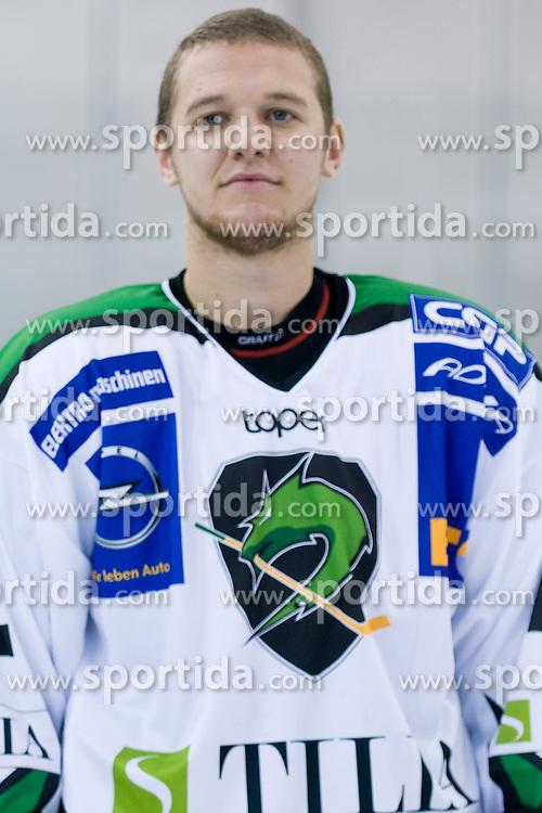 John Hughes, member of HDD Tilia Olimpija ice-hockey team for season 2010/2011 at official photo shooting in Hala Tivoli, Ljubljana, on September 1, 2010, in Ljubljana, Slovenia. (Photo by Matic Klansek Velej / Sportida)
