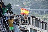 Migrants landing in Salerno port