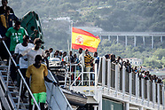 Migrants landing in Salerno port