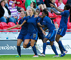 31.08.2013, Parc y Scarlets, Llanelli, ENG, UEFA Damen U19 EM, England vs Frankreich, Finale, im Bild France's Sandie Toletti scores the first goal against England in extra time during the final UEFA women U 19 championchip match between England and france at Parc y Scarlets in Llanelli, Great Britain on 2013/08/31. EXPA Pictures © 2013, PhotoCredit: EXPA/ Propagandaphoto/ Alan Seymour<br /> <br /> ***** ATTENTION - OUT OF ENG, GBR, UK *****